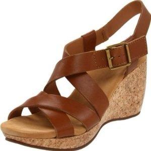 Clarks Elements Harwich Cast Womens Wedge Sandals